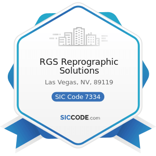 RGS Reprographic Solutions - SIC Code 7334 - Photocopying and Duplicating Services