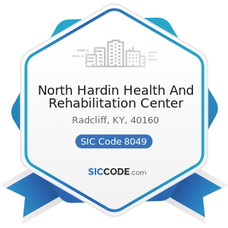 North Hardin Health And Rehabilitation Center - SIC Code 8049 - Offices and Clinics of Health...