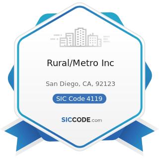 Rural/Metro Inc - SIC Code 4119 - Local Passenger Transportation, Not Elsewhere Classified