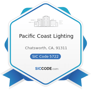 Pacific Coast Lighting - SIC Code 5722 - Household Appliance Stores