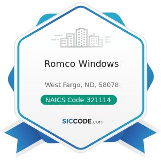 Romco Windows - NAICS Code 321114 - Wood Preservation