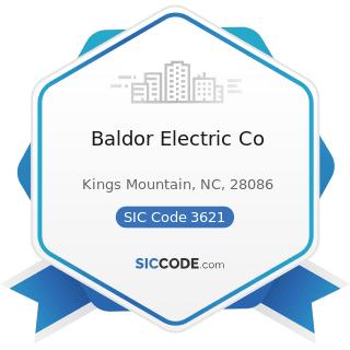 Baldor Electric Co - SIC Code 3621 - Motors and Generators