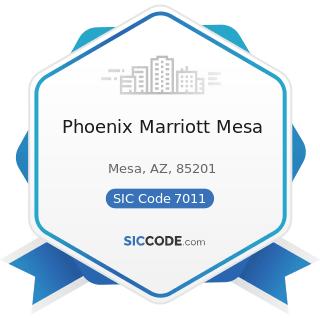 Phoenix Marriott Mesa - SIC Code 7011 - Hotels and Motels