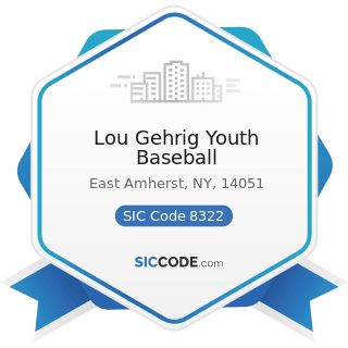 Lou Gehrig Youth Baseball - SIC Code 8322 - Individual and Family Social Services