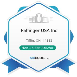Palfinger USA Inc - NAICS Code 238290 - Other Building Equipment Contractors