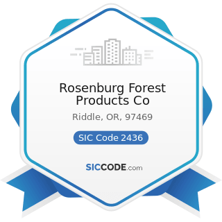 Rosenburg Forest Products Co - SIC Code 2436 - Softwood Veneer and Plywood