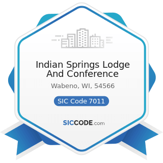 Indian Springs Lodge And Conference - SIC Code 7011 - Hotels and Motels