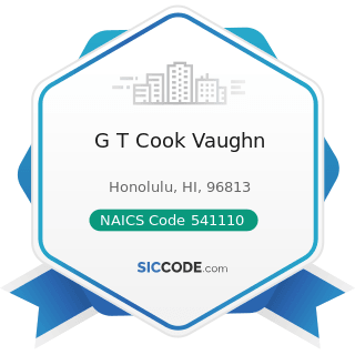 G T Cook Vaughn - NAICS Code 541110 - Offices of Lawyers