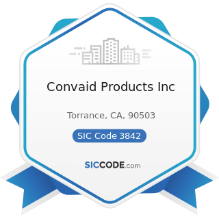 Convaid Products Inc - SIC Code 3842 - Orthopedic, Prosthetic, and Surgical Appliances and...