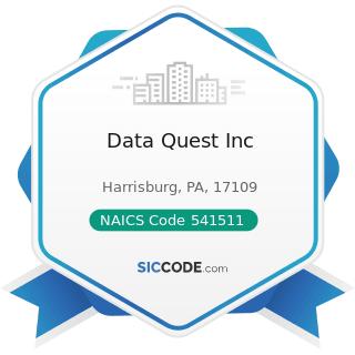 Data Quest Inc - NAICS Code 541511 - Custom Computer Programming Services