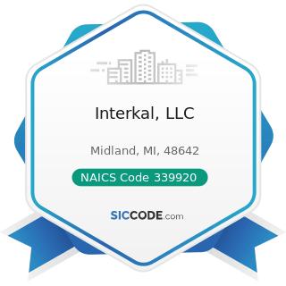 Interkal, LLC - NAICS Code 339920 - Sporting and Athletic Goods Manufacturing