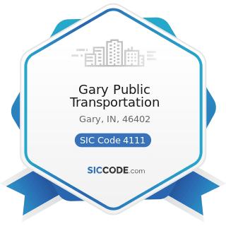 Gary Public Transportation - SIC Code 4111 - Local and Suburban Transit