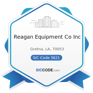 Reagan Equipment Co Inc - SIC Code 3621 - Motors and Generators