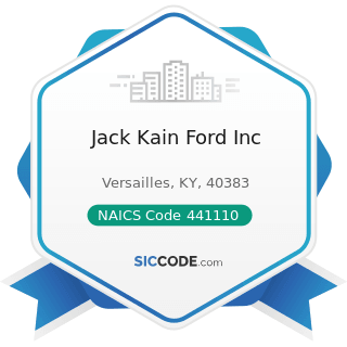 Jack Kain Ford Inc - NAICS Code 441110 - New Car Dealers