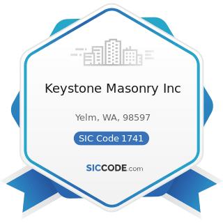 Keystone Masonry Inc - SIC Code 1741 - Masonry, Stone Setting, and Other Stone Work