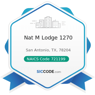 Nat M Lodge 1270 - NAICS Code 721199 - All Other Traveler Accommodation