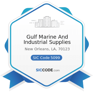 Gulf Marine And Industrial Supplies - SIC Code 5099 - Durable Goods, Not Elsewhere Classified