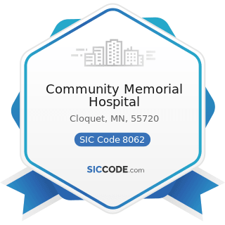 Community Memorial Hospital - SIC Code 8062 - General Medical and Surgical Hospitals