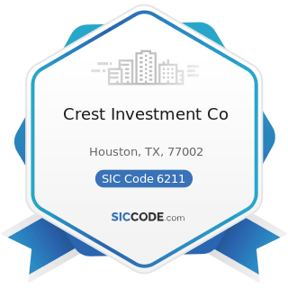 Crest Investment Co - SIC Code 6211 - Security Brokers, Dealers, and Flotation Companies