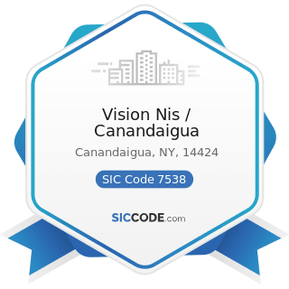 Vision Nis / Canandaigua - SIC Code 7538 - General Automotive Repair Shops