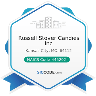 Russell Stover Candies Inc - NAICS Code 445292 - Confectionery and Nut Stores