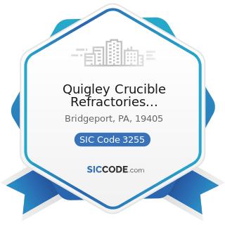 Quigley Crucible Refractories Specialties - SIC Code 3255 - Clay Refractories