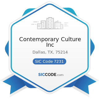 Contemporary Culture Inc - SIC Code 7231 - Beauty Shops