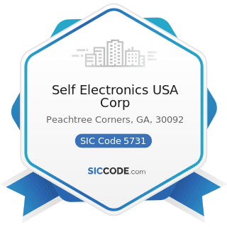 Self Electronics USA Corp - SIC Code 5731 - Radio, Television, and Consumer Electronics Stores