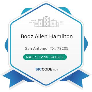 Booz Allen Hamilton - NAICS Code 541611 - Administrative Management and General Management...