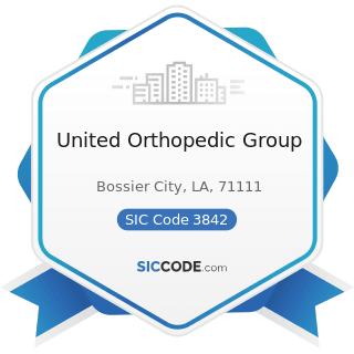 United Orthopedic Group - SIC Code 3842 - Orthopedic, Prosthetic, and Surgical Appliances and...