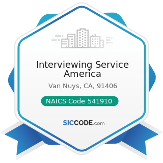 Interviewing Service America - NAICS Code 541910 - Marketing Research and Public Opinion Polling