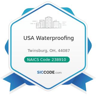 USA Waterproofing - NAICS Code 238910 - Site Preparation Contractors