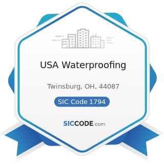 USA Waterproofing - SIC Code 1794 - Excavation Work