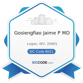 Gosiengfiao Jaime P MD - SIC Code 8011 - Offices and Clinics of Doctors of Medicine