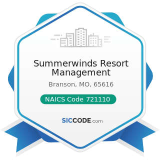 Summerwinds Resort Management - NAICS Code 721110 - Hotels (except Casino Hotels) and Motels