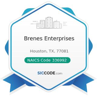 Brenes Enterprises - NAICS Code 336992 - Military Armored Vehicle, Tank, and Tank Component...