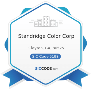 Standridge Color Corp - SIC Code 5198 - Paints, Varnishes, and Supplies