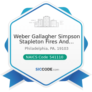 Weber Gallagher Simpson Stapleton Fires And Newby LLP - NAICS Code 541110 - Offices of Lawyers
