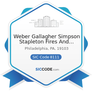 Weber Gallagher Simpson Stapleton Fires And Newby LLP - SIC Code 8111 - Legal Services