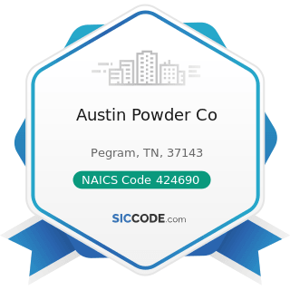 Austin Powder Co - NAICS Code 424690 - Other Chemical and Allied Products Merchant Wholesalers