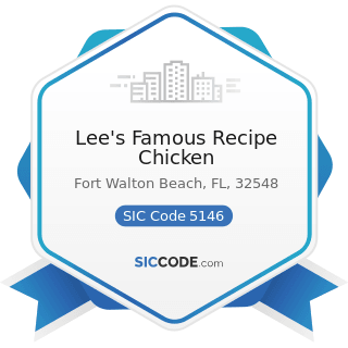 Lee's Famous Recipe Chicken - SIC Code 5146 - Fish and Seafoods