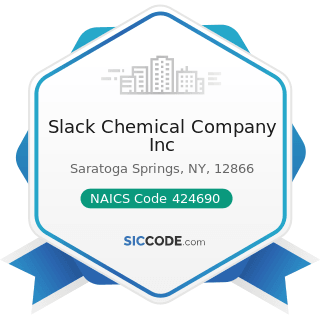 Slack Chemical Company Inc - NAICS Code 424690 - Other Chemical and Allied Products Merchant...