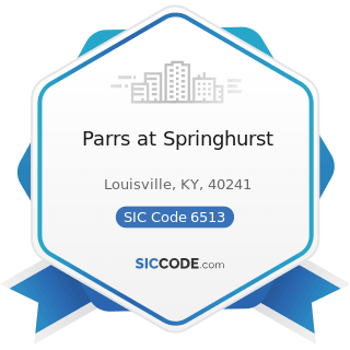 Parrs at Springhurst - SIC Code 6513 - Operators of Apartment Buildings