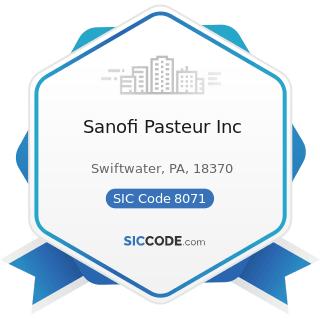 Sanofi Pasteur Inc - SIC Code 8071 - Medical Laboratories