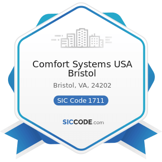Comfort Systems USA Bristol - SIC Code 1711 - Plumbing, Heating and Air-Conditioning