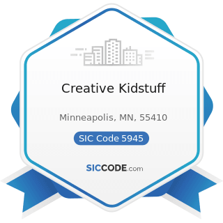 Creative Kidstuff - SIC Code 5945 - Hobby, Toy, and Game Shops