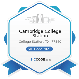 Cambridge College Station - SIC Code 7021 - Rooming and Boarding Houses