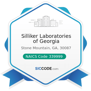 Silliker Laboratories of Georgia - NAICS Code 339999 - All Other Miscellaneous Manufacturing