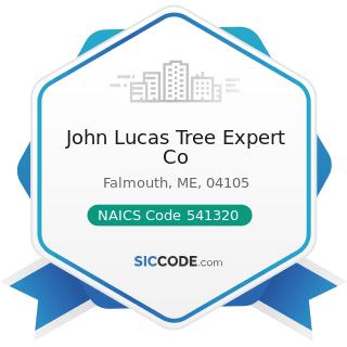 John Lucas Tree Expert Co - NAICS Code 541320 - Landscape Architectural Services