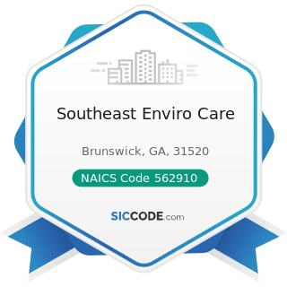 Southeast Enviro Care - NAICS Code 562910 - Remediation Services